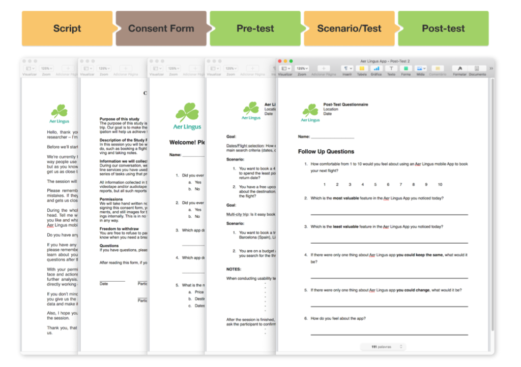 Usability Testing Materials